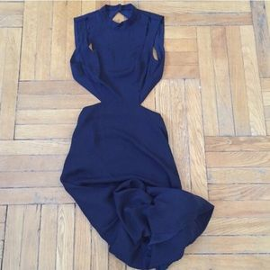 H&M Navy Blue Backless Gown